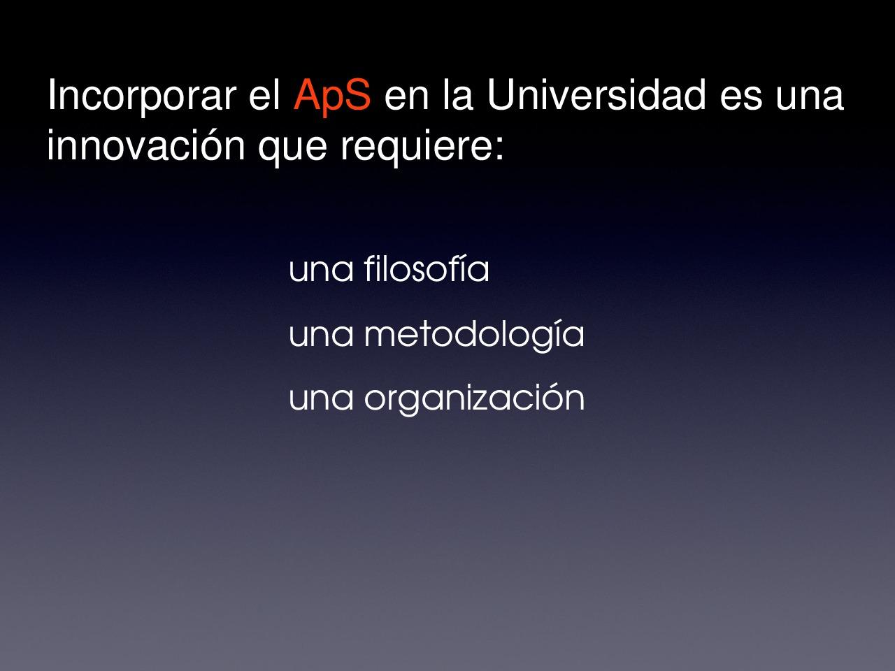 A Aps e a innovación na universidade: sentido e posibilidades